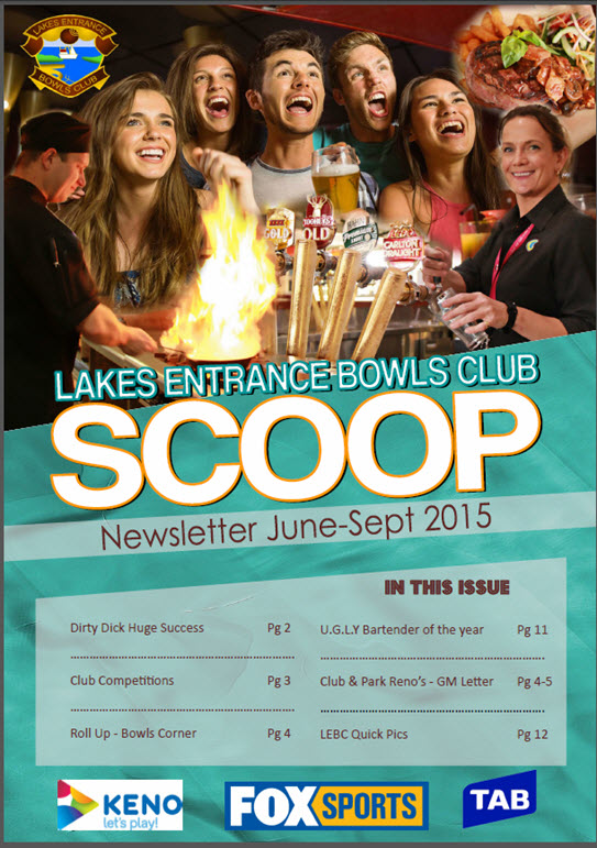 Lakes Entrance Bowls Club Scoop Newsletter