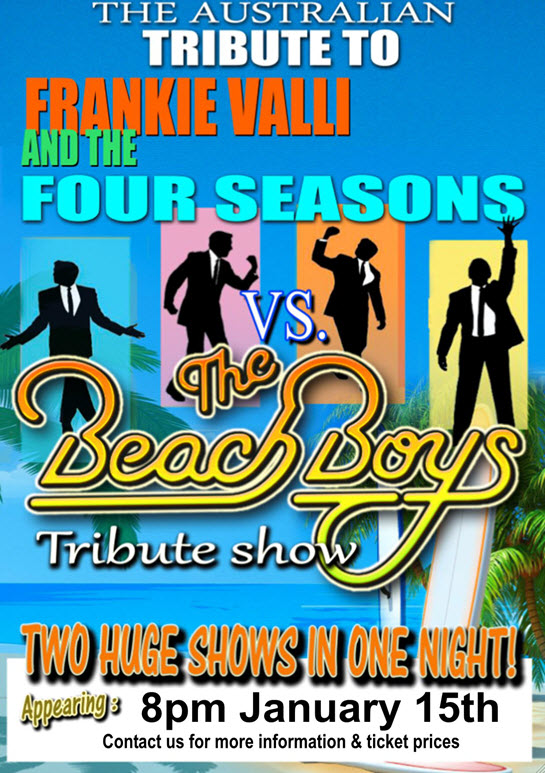 Frankie Vallie and The Beach Boys at Lakes Entrance